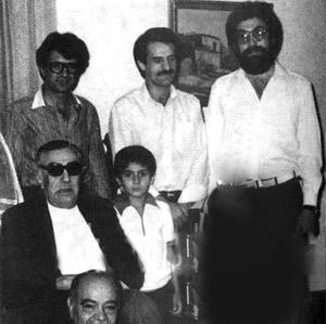 محمدرضا شجریان در کنار استاد بنان