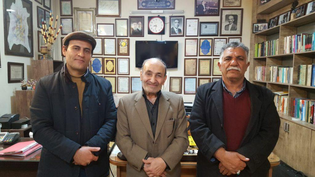از راست: شیرزاد غفاری، استاد درةالتاج و احمدرضا قدیریگزی